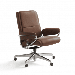 living room stressless paris lowback office chair paloma copper