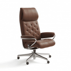stressless metro highback office chair paloma copper
