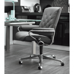 stressless metro lowback office chair lifestyle