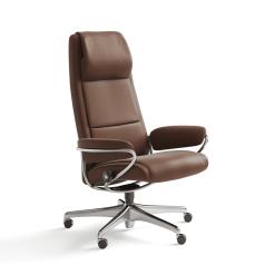 stressless paris highback office chair paloma copper