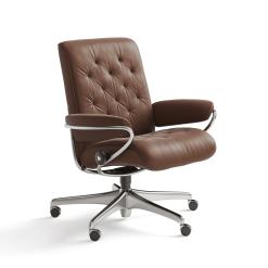 stressless paris lowback office chair paloma copper