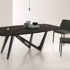 Adelio Dining Table in Black and brown lifestyle