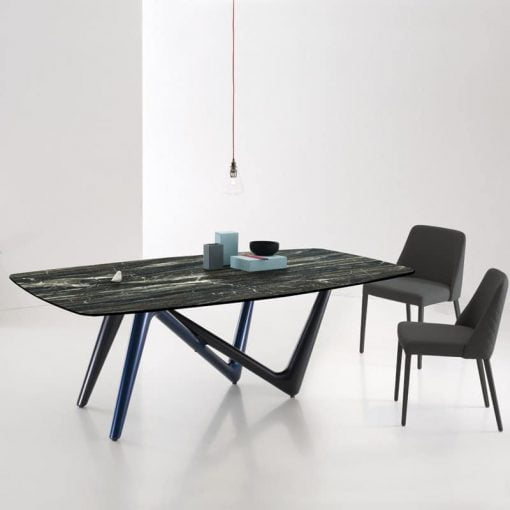 Adelio dining table in black and grey lifestyle
