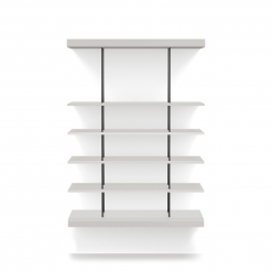 bayard small bookshelf chateau gray