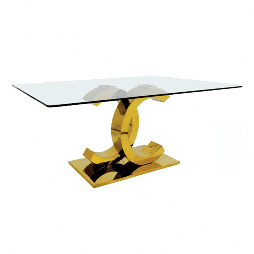 dining room chanel table gold