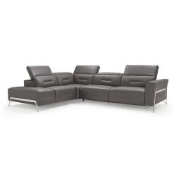 living room enzo LHF sectional dark grey