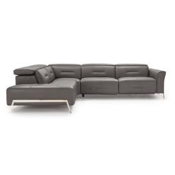 living room enzo LHF sectional dark grey headrest