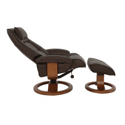 living room lounge chair admiral r base in mocha reclined
