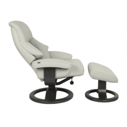 living room lounge chair alfa 510 shaodow grey reclined