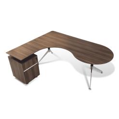 300 Series Executive Desk with left Pedestal Walnut