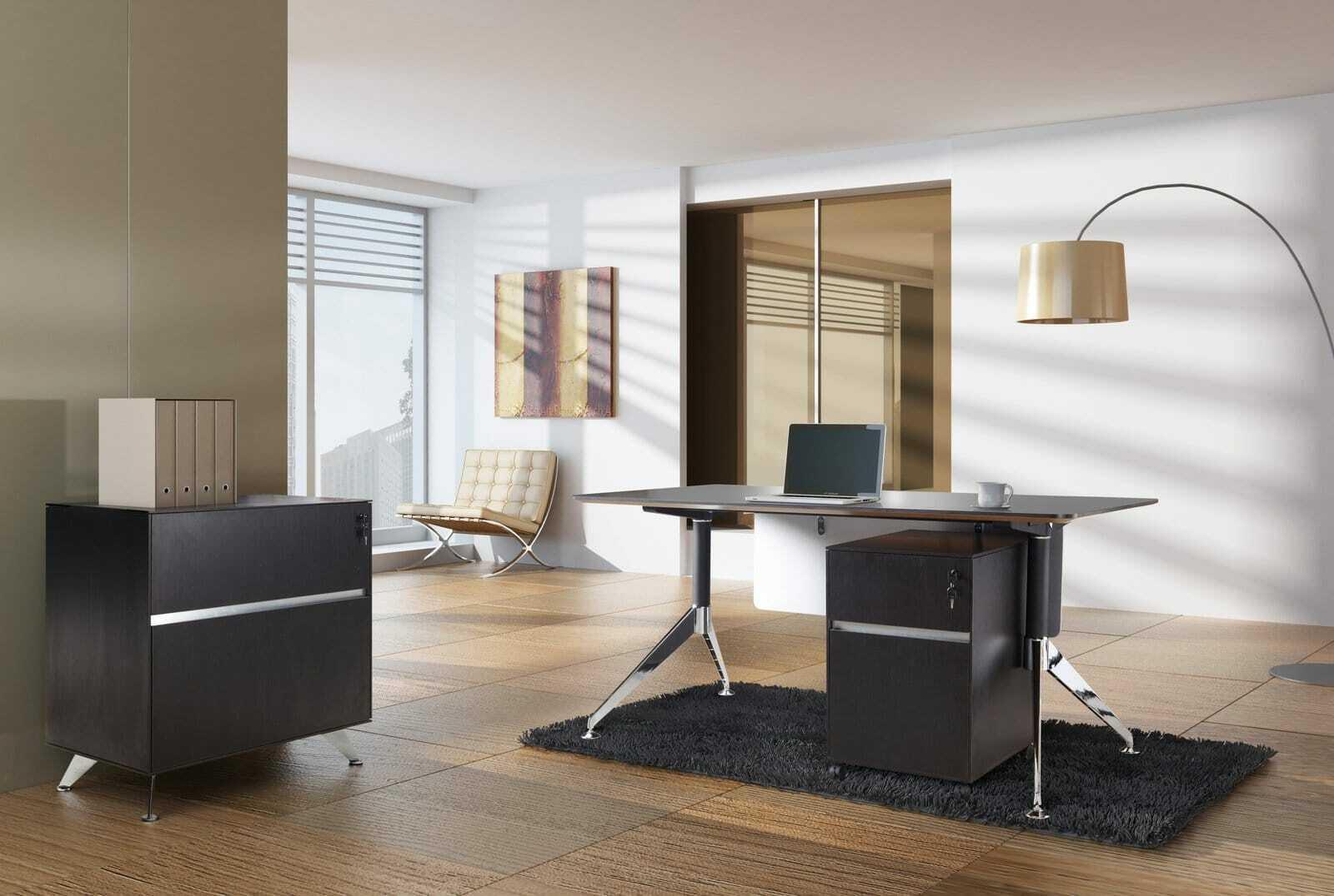 300 Series Office Desk Espresso Lifestyle 002