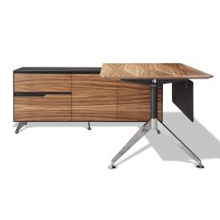 400 series executive desk left cabinet zebrano