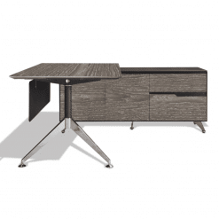 400 series executive desk right cabinet grey wood