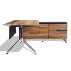 400 series executive desk right cabinet zebrano