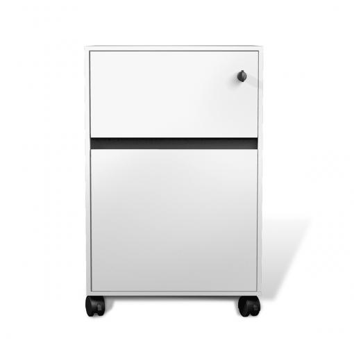 400 series mobile pedestal white lacquer