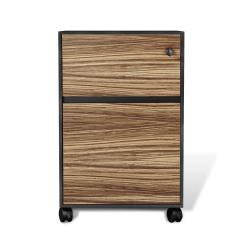 400 series mobile pedestal zebrano