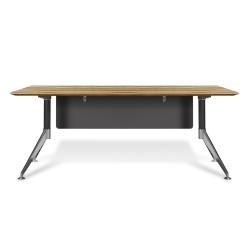 400 series office desk zebrano wood