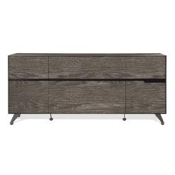 400 series small storage credenza grey wood