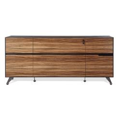 400 series small storage credenza zebrano wood