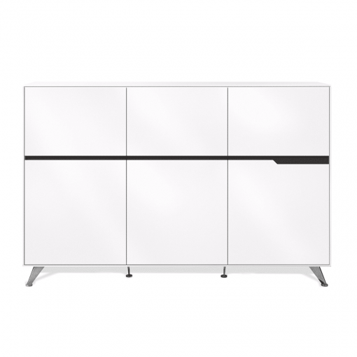 400 series storage credenza large white