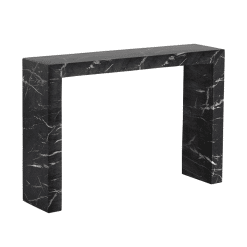 axle console table black marble