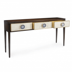 living room austere console table open