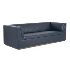 living room bradley sofa vintage blue
