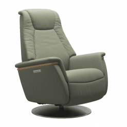 Stressless Max Power Chair Paloma Shadow Green and Steel