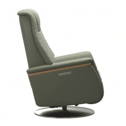 Stressless Max Power Chair Paloma Shadow Green and Steel side