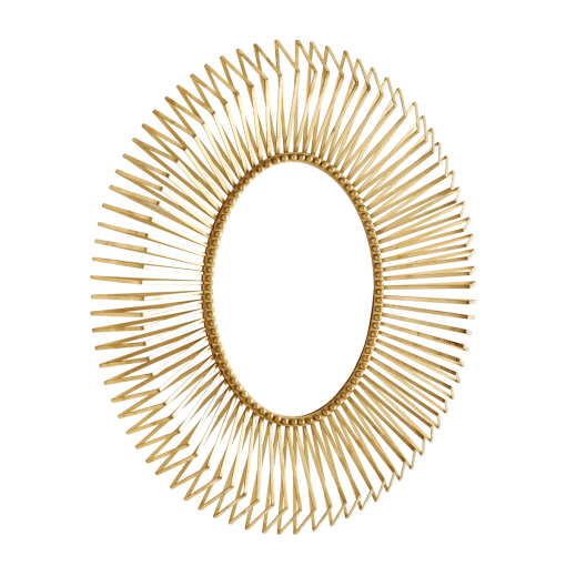 annular mirror gold