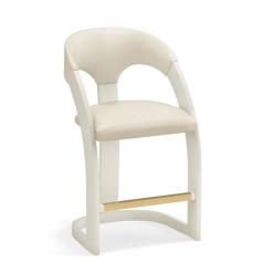 estrella counter stool white frame milk