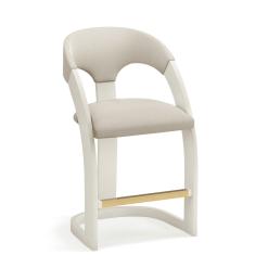 estrella counter stool white frame muslin