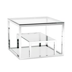 living room barole end table polished steel