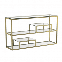living room barolo console table gold