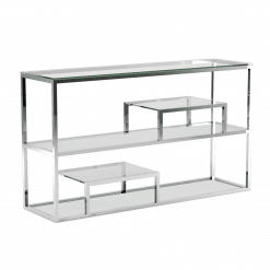 living room barolo console table polished stainless steel