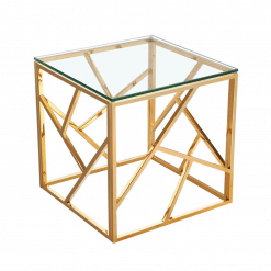 living room carole end table gold