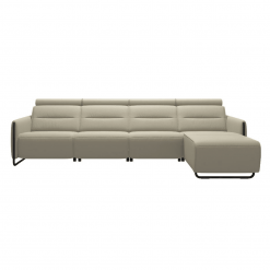 living room stressless emily steel 3seater with chaise