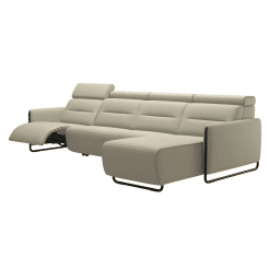 living room stressless emily steel 3seater with chaise recline