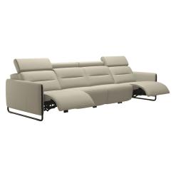 living room stressless emily steel 4seater recline