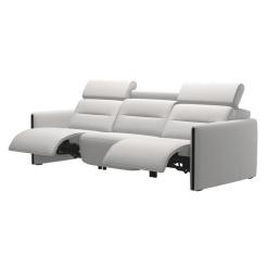 living room stressless emily wood 3seater recline