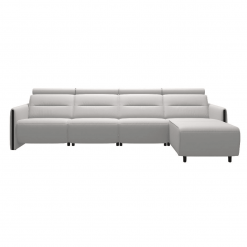 living room stressless emily wood 3seater with chaise