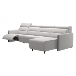 living room stressless emily wood 3seater with chaise recline
