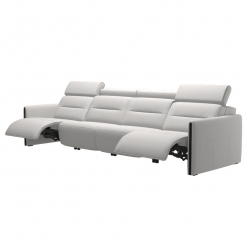 living room stressless emily wood 4seater recline