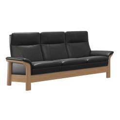 living room stressless saga wood highback 3seater