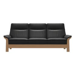 living room stressless saga wood highback 3seater front