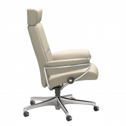 office stressless paris office chair with adjustable headrest side