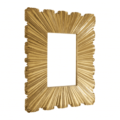 ruffle mirror brass