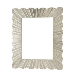 ruffle mirror silver