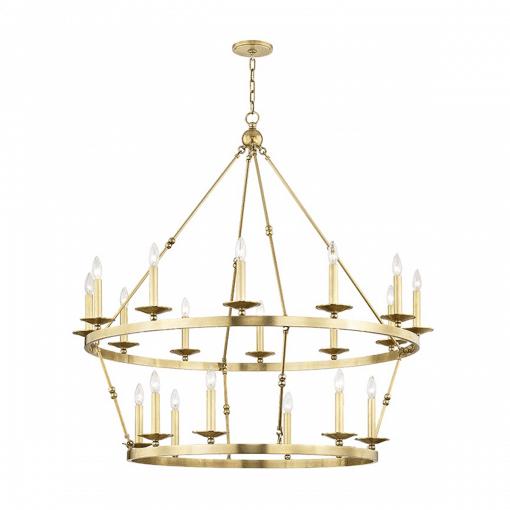 lighting allendal 20 light chandelier aged brass