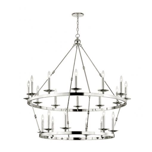 lighting allendal 20 light chandelier polished nickel